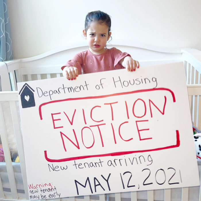 Our Co-founder has been handed an eviction notice!